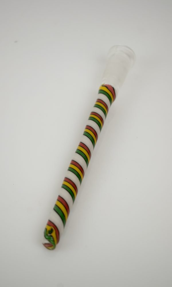 princessa rasta custom lined tubing downstem limited edition by jc glass